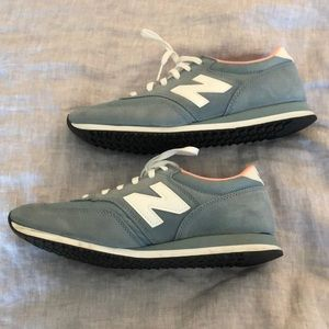 Gray and Pink New Balance Sneakers